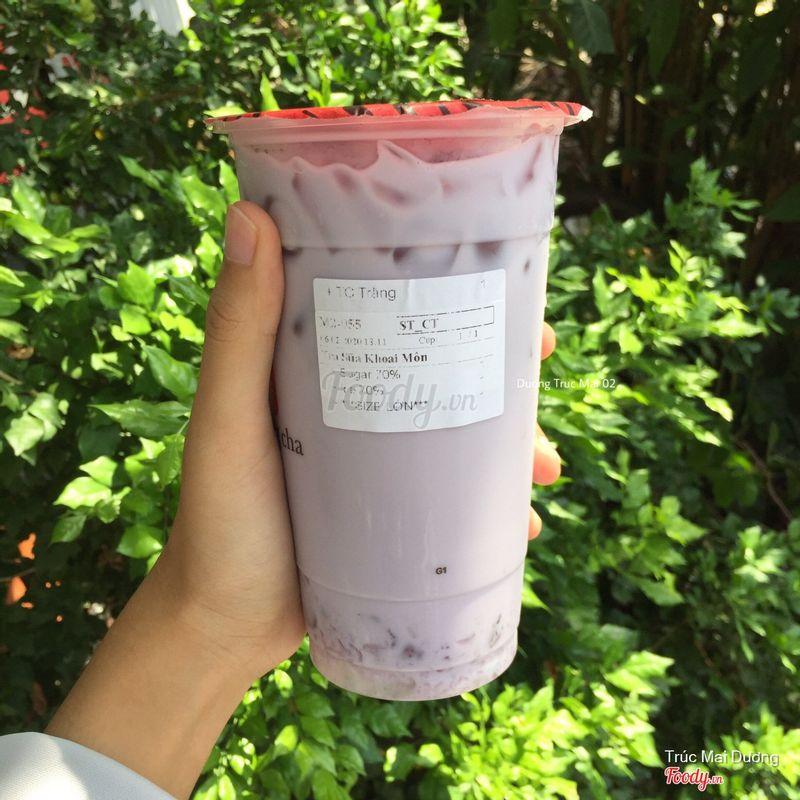 Trà sữa khoai môn Size L + Trân châu trắng ( Sugar 70% - Regular Ice )
