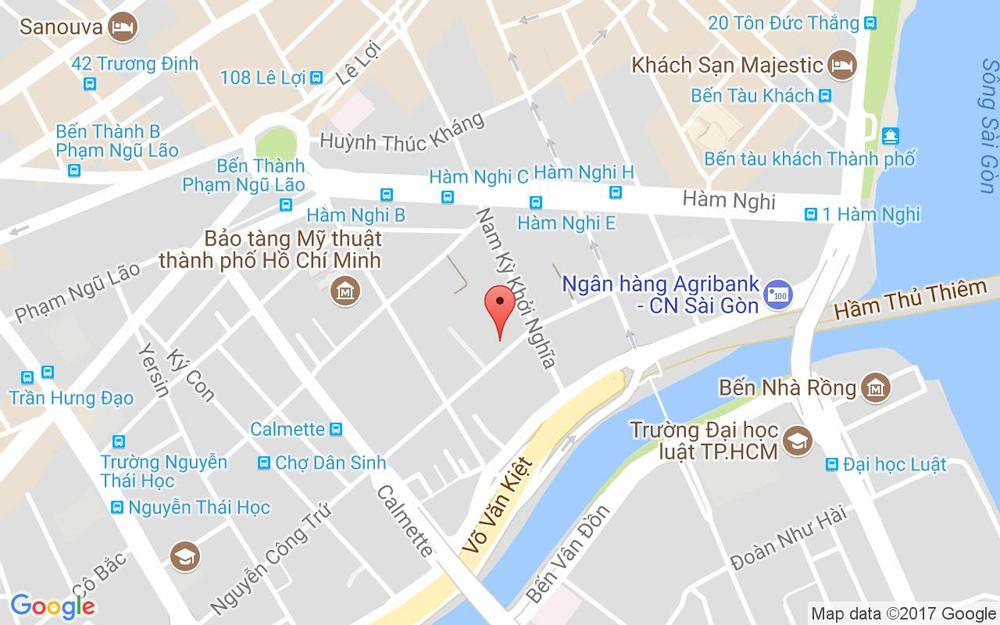 Vị trí bản đồ 154 Nguyễn Công Trứ, P. Nguyễn Thái Bình Quận 1 TP. HCM