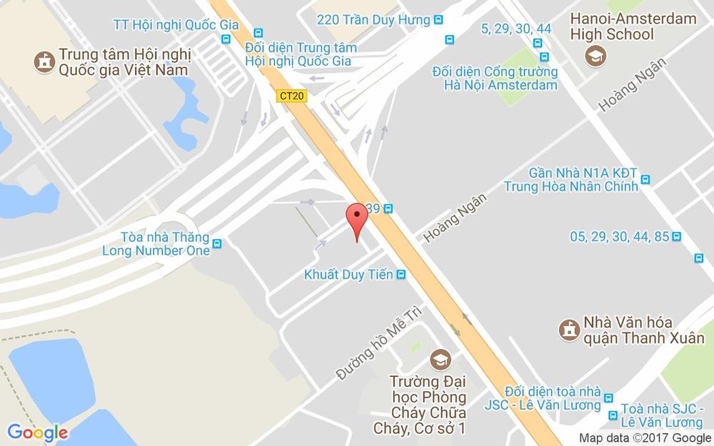 Vị trí bản đồ Tầng 2, Sảnh B, Tòa Thăng Long Number One, Khuất Duy Tiến Quận Thanh Xuân Hà Nội