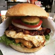 Bacon cheese and Egg Burger