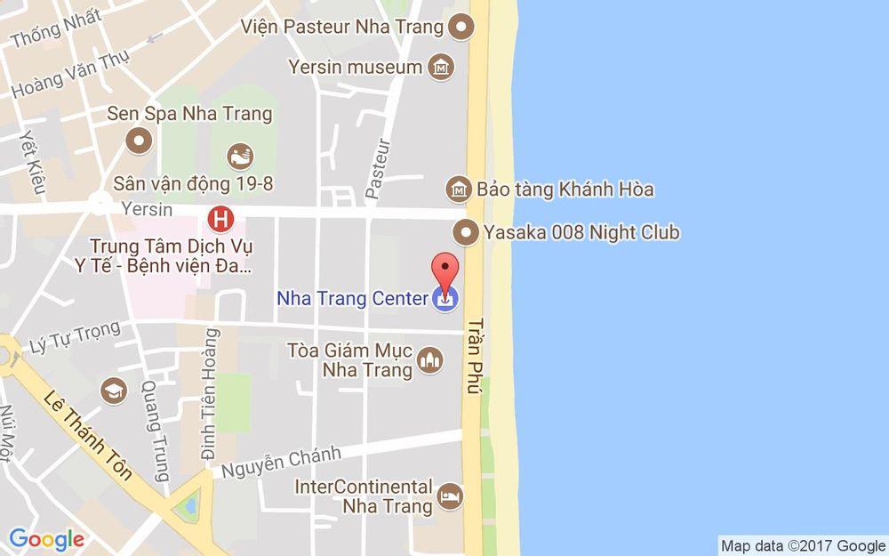 Vị trí bản đồ Tầng 3 - Nha Trang Center, 20 Trần Phú, P. Lộc Thọ Tp. Nha Trang Khánh Hoà