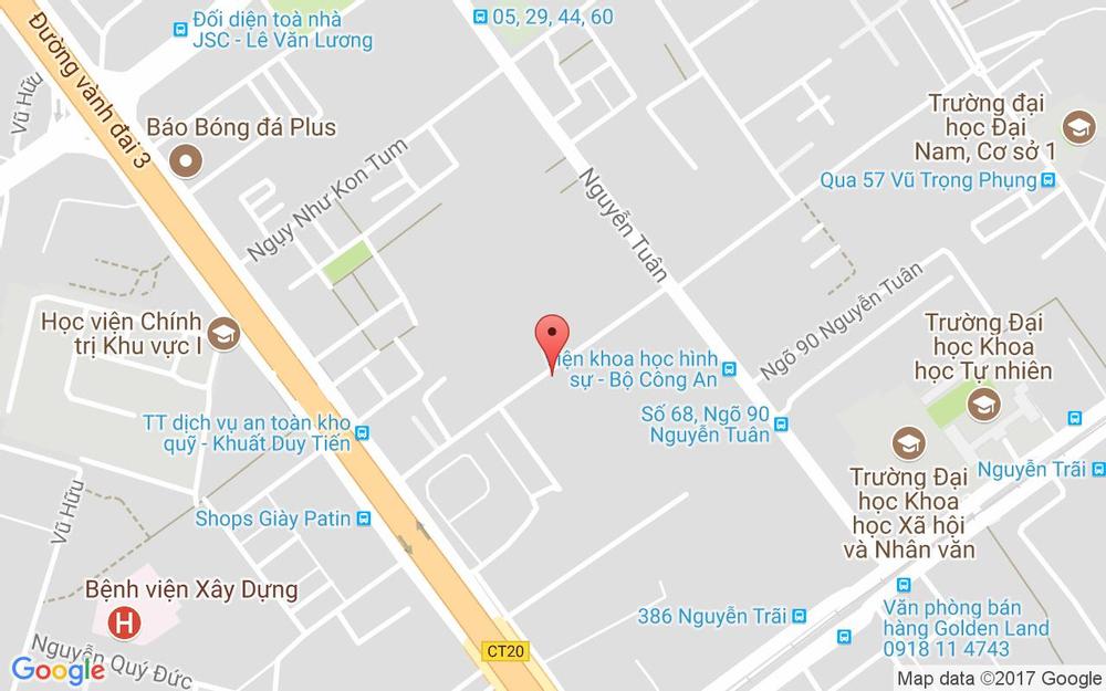 Vị trí bản đồ 222 Nguyễn Huy Tưởng Quận Thanh Xuân Hà Nội