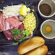 Chảo thịt con bò chan sốt KM 99k