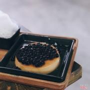 Bánh Flan khổng lồ trân châu đen