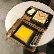 Bánh toast trứng muối. Bánh toast cheese