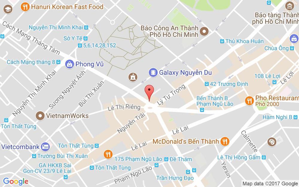 Vị trí bản đồ 4Bis Cách Mạng Tháng 8, P. Bến Thành Quận 1 TP. HCM