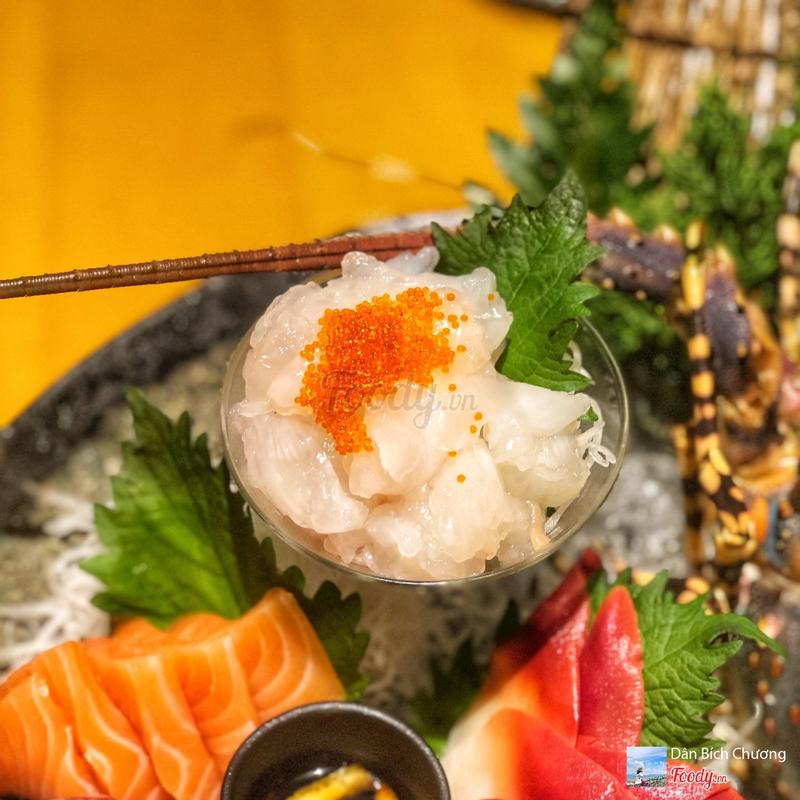 Sashimi tôm hùm baby