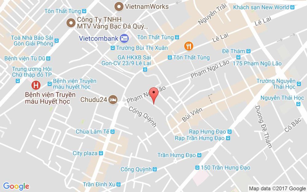 Vị trí bản đồ 373/18 Phạm Ngũ Lão Quận 1 TP. HCM