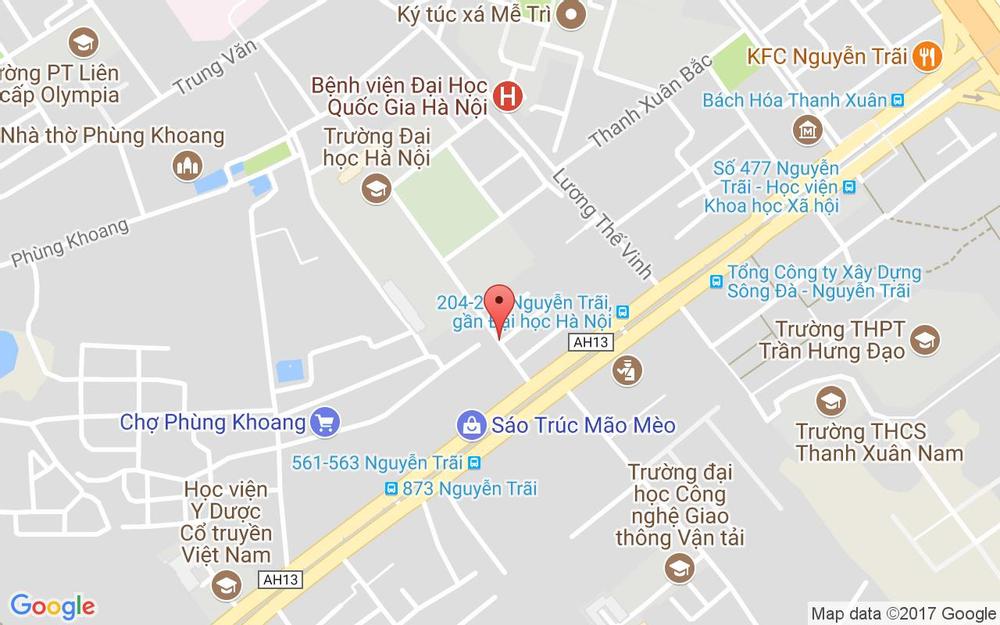 Vị trí bản đồ 9 Đại Học Hà Nội, Km 9 Nguyễn Trãi Quận Thanh Xuân Hà Nội