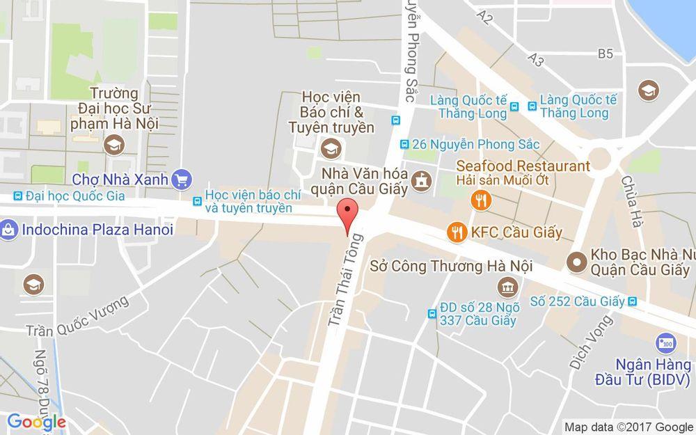 Vị trí bản đồ 2 Trần Thái Tông Quận Cầu Giấy Hà Nội