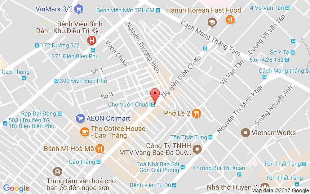 Vị trí bản đồ Tầng 2, 343 Nguyễn Đình Chiểu, P. 5 Quận 3 TP. HCM