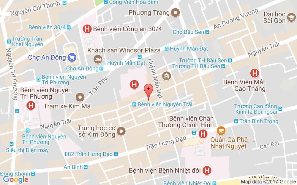 Vị trí bản đồ 309 Nguyễn Trãi, P. 7 Quận 5 TP. HCM