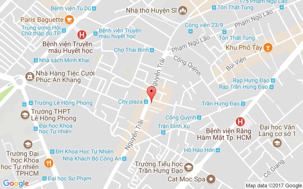 Vị trí bản đồ 257B Nguyễn Trãi, P. Nguyễn CưTrinh Quận 1 TP. HCM