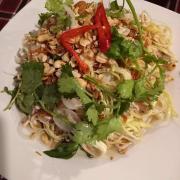 Gỏi bắp chuối hột hà nàm  - món đặc sản của quán