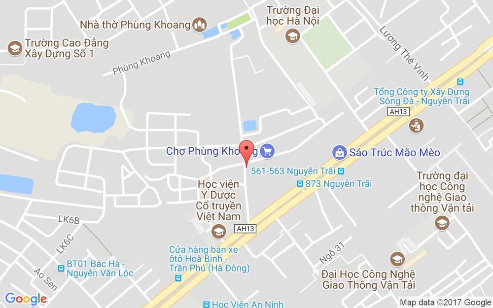Vị trí bản đồ 59 Phùng Khoang Quận Thanh Xuân Hà Nội