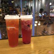 Trà bưởi Ruby + Hồng trà Nam Phi cam vàng
