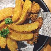 gà rán - khoai tây chiên