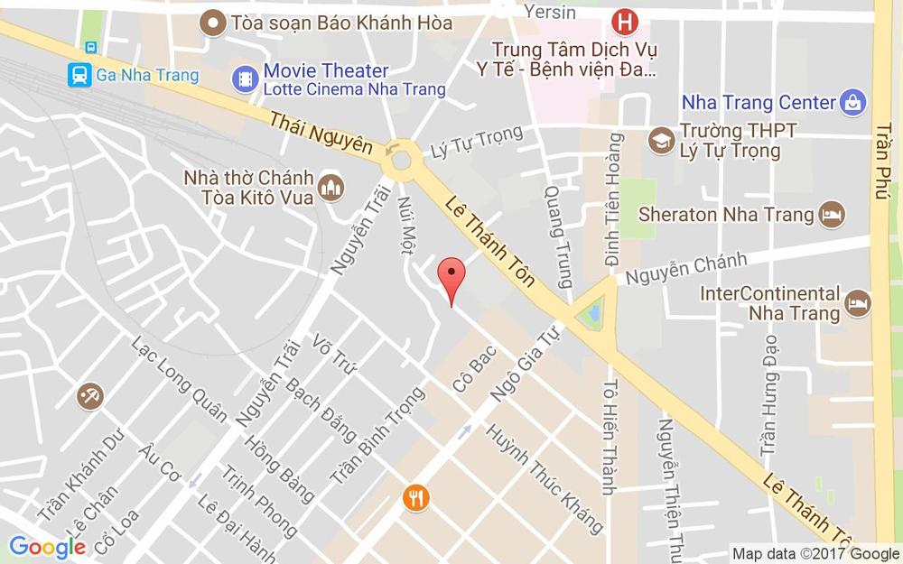 Vị trí bản đồ 12 Lê Quý Đôn Tp. Nha Trang Khánh Hoà