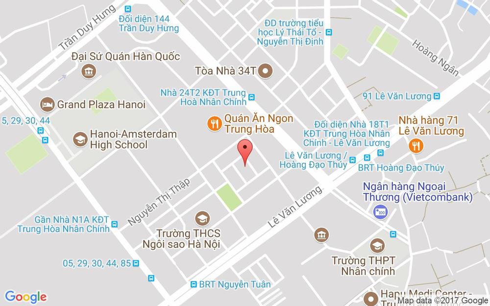 Vị trí bản đồ N6C Hoàng Đạo Thúy Quận Thanh Xuân Hà Nội