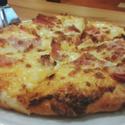 Ham And Bacon Pizza Size M
