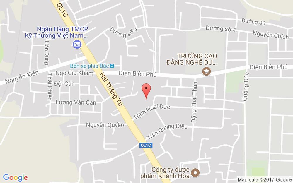 Vị trí bản đồ Trịnh Hoài Đức Tp. Nha Trang Khánh Hoà