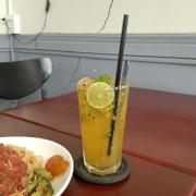 Mojito chanh dây + Mỳ Ý