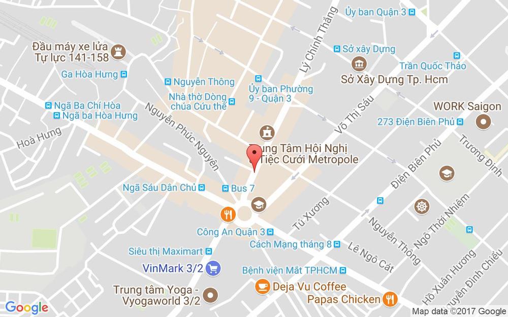 Vị trí bản đồ 152/43 Lý Chính Thắng, P. 7 Quận 3 TP. HCM