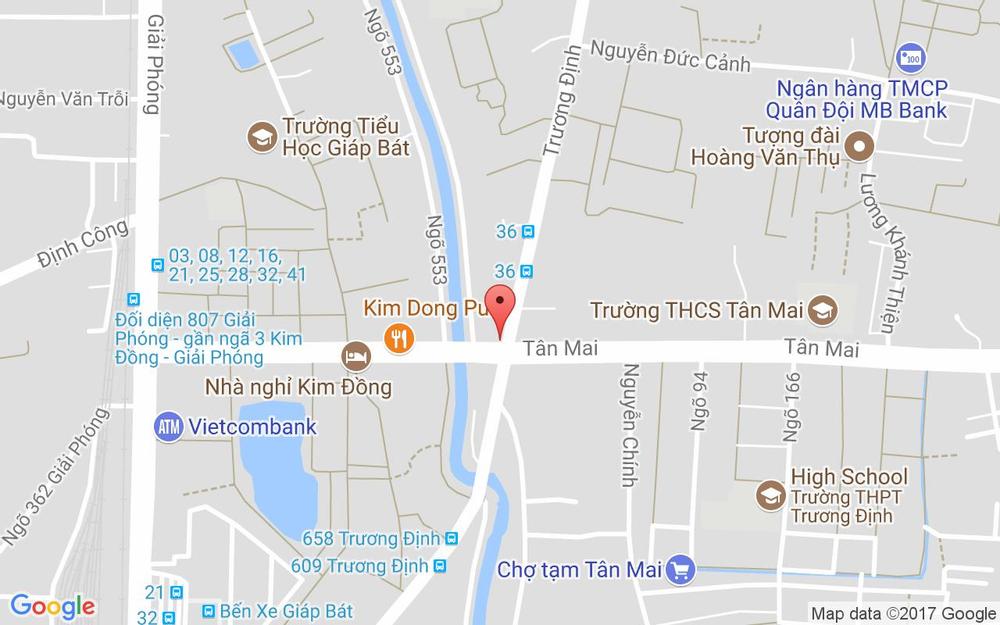 Vị trí bản đồ 566 Trương Định Quận Hai Bà Trưng Hà Nội