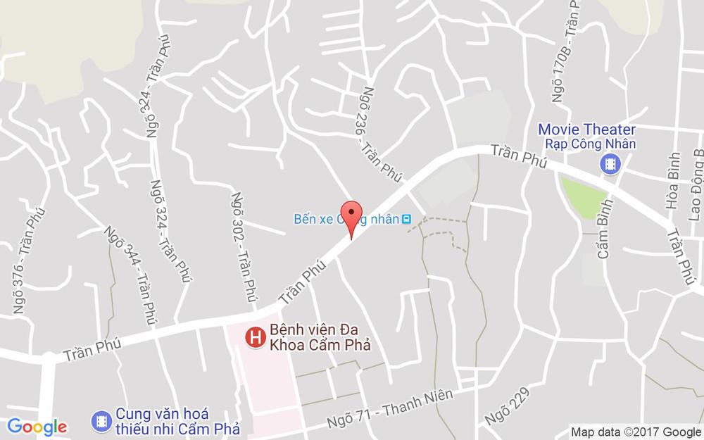 Vị trí bản đồ 305A Trần Phú Tp. Cẩm Phả Quảng Ninh