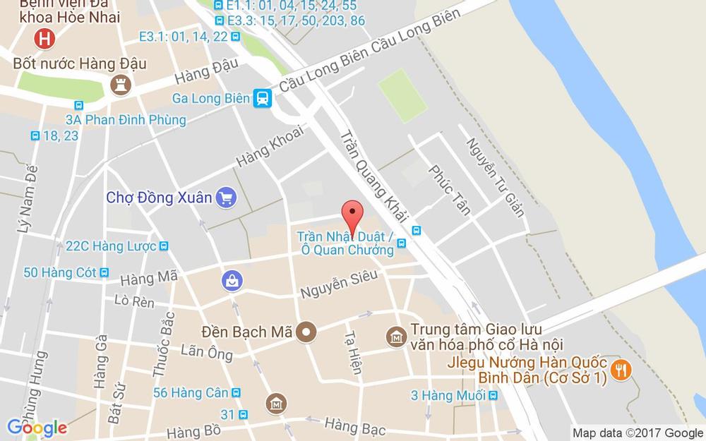 Vị trí bản đồ 4A Hàng Chiếu Quận Hoàn Kiếm Hà Nội