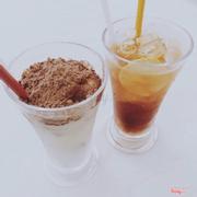 Sữa chua ca cao và trà lipton chanh
