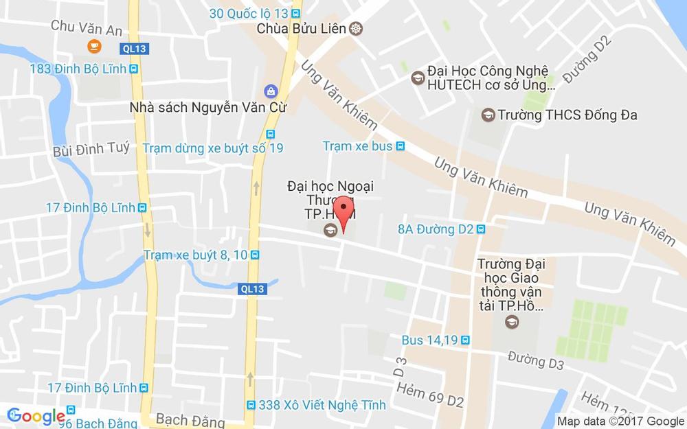 Vị trí bản đồ 17 Đường D5 Quận Bình Thạnh TP. HCM