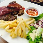 Steak sốt vang đỏ
