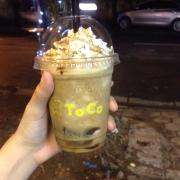 Cafe caramel đá xay fun kem