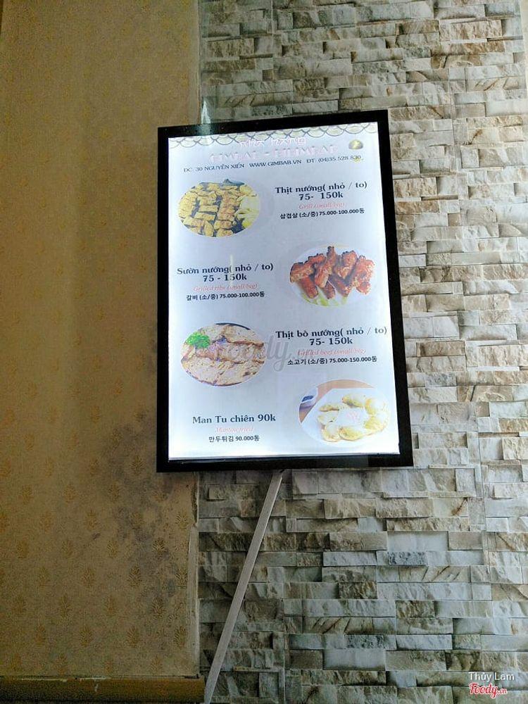 Nhà Hàng Gim Bab - Bi Bim Bab - Món Ăn Dân Tộc Hàn Quốc ở Hà Nội
