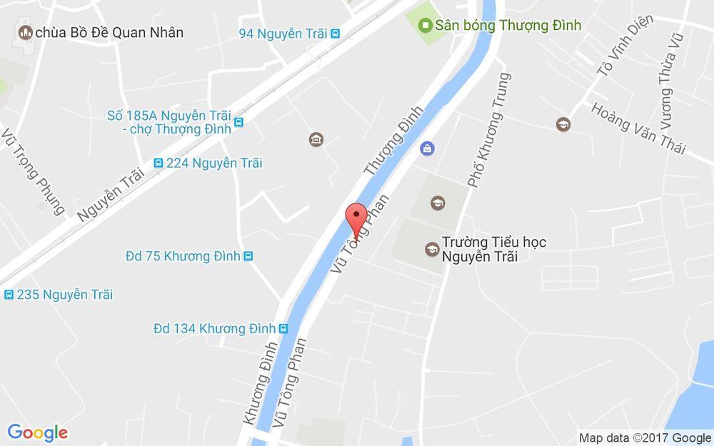 Vị trí bản đồ 185 Vũ Tông Phan Quận Thanh Xuân Hà Nội
