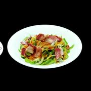 saladcải mầm  thịt nướng
