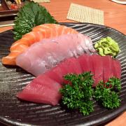 sashimi cá hồi - cá ngừ - cá trắng
