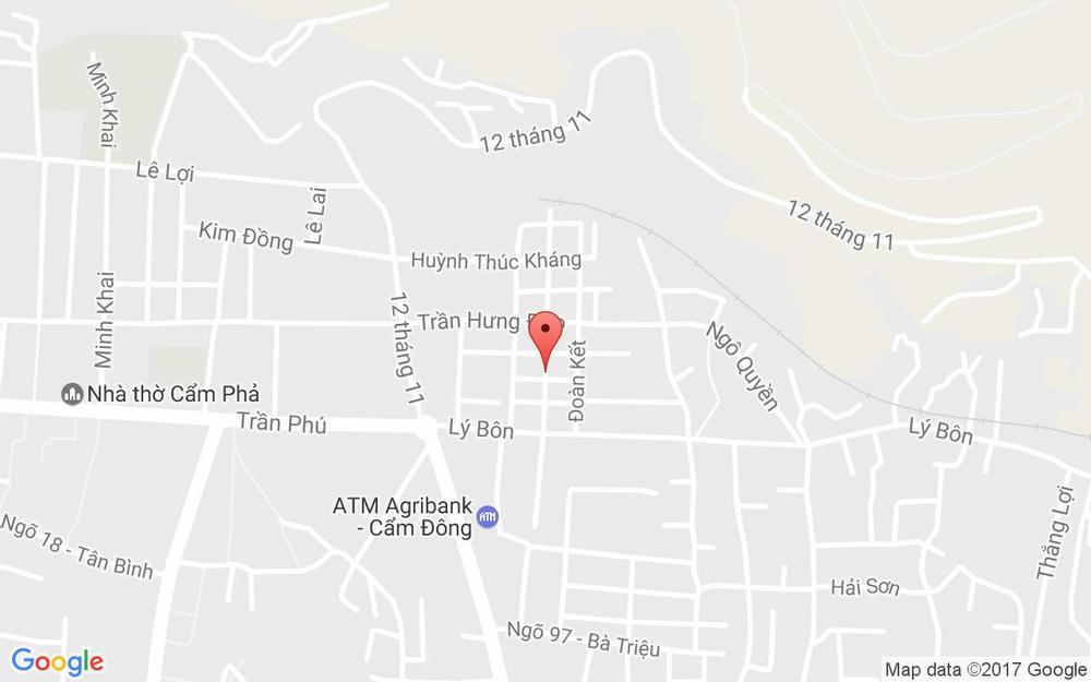 Vị trí bản đồ 30 Quang Trung, Cẩm Đông Tp. Cẩm Phả Quảng Ninh