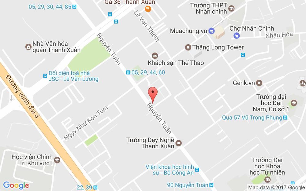 Vị trí bản đồ 169 Nguyễn Tuân Quận Thanh Xuân Hà Nội