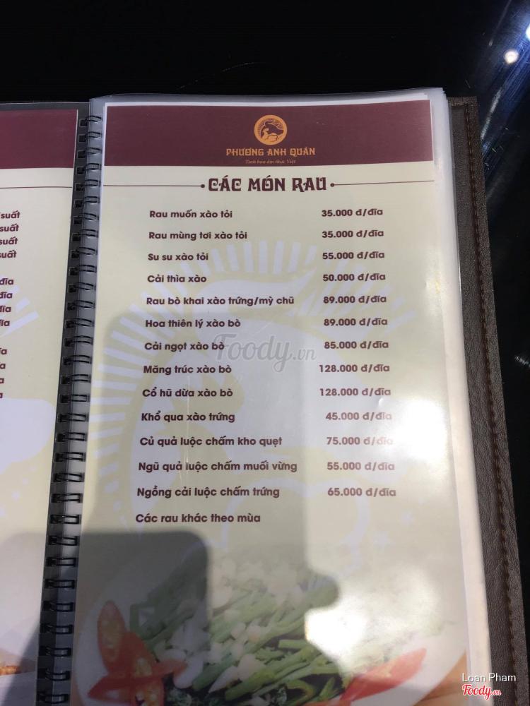 Phương Anh Quán - Tinh Hoa Ẩm Thực Việt ở Hà Nội