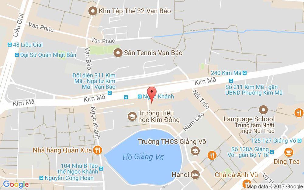 Vị trí bản đồ 101B3 Trần Huy Liệu Quận Ba Đình Hà Nội