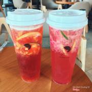 Trà xoài đỏ & trà bưởi Ruby