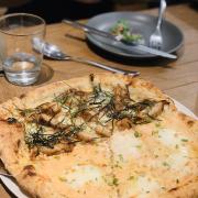 Salmon & Teriyaki chicken pizza