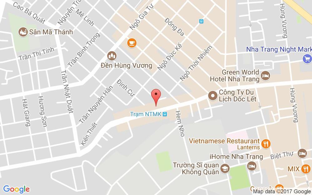 Vị trí bản đồ 72 Nguyễn Thị Minh Khai Tp. Nha Trang Khánh Hoà