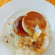 bánh flant nước dừa+ cafe 12k/dĩa
