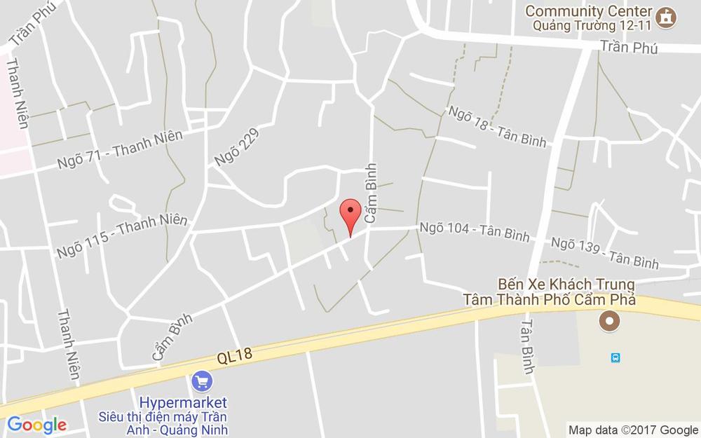 Vị trí bản đồ 126 Cẩm Bình Tp. Cẩm Phả Quảng Ninh