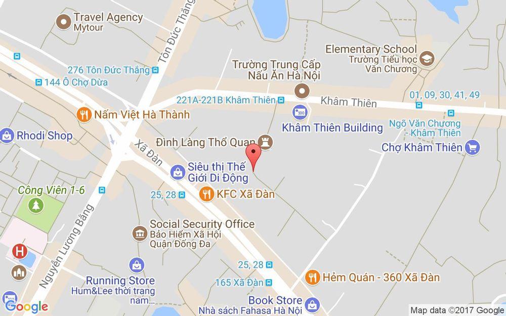 Vị trí bản đồ 60 Thổ Quan Quận Đống Đa Hà Nội