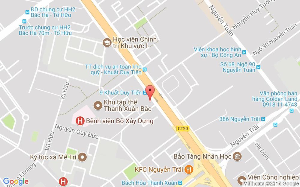Vị trí bản đồ 118D1 Thanh Xuân Bắc Quận Thanh Xuân Hà Nội