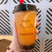 Lục trà cam tươi+ Trân châu đen